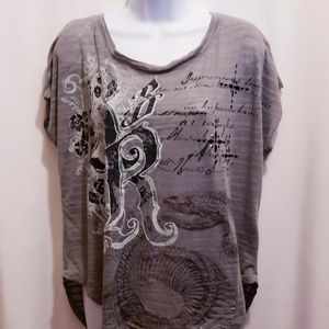 Rock & Republic Snake Skeleton Tee - Size M